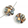 Lamp Bead Petite Fleur 2Pc 12mm Sable Brun